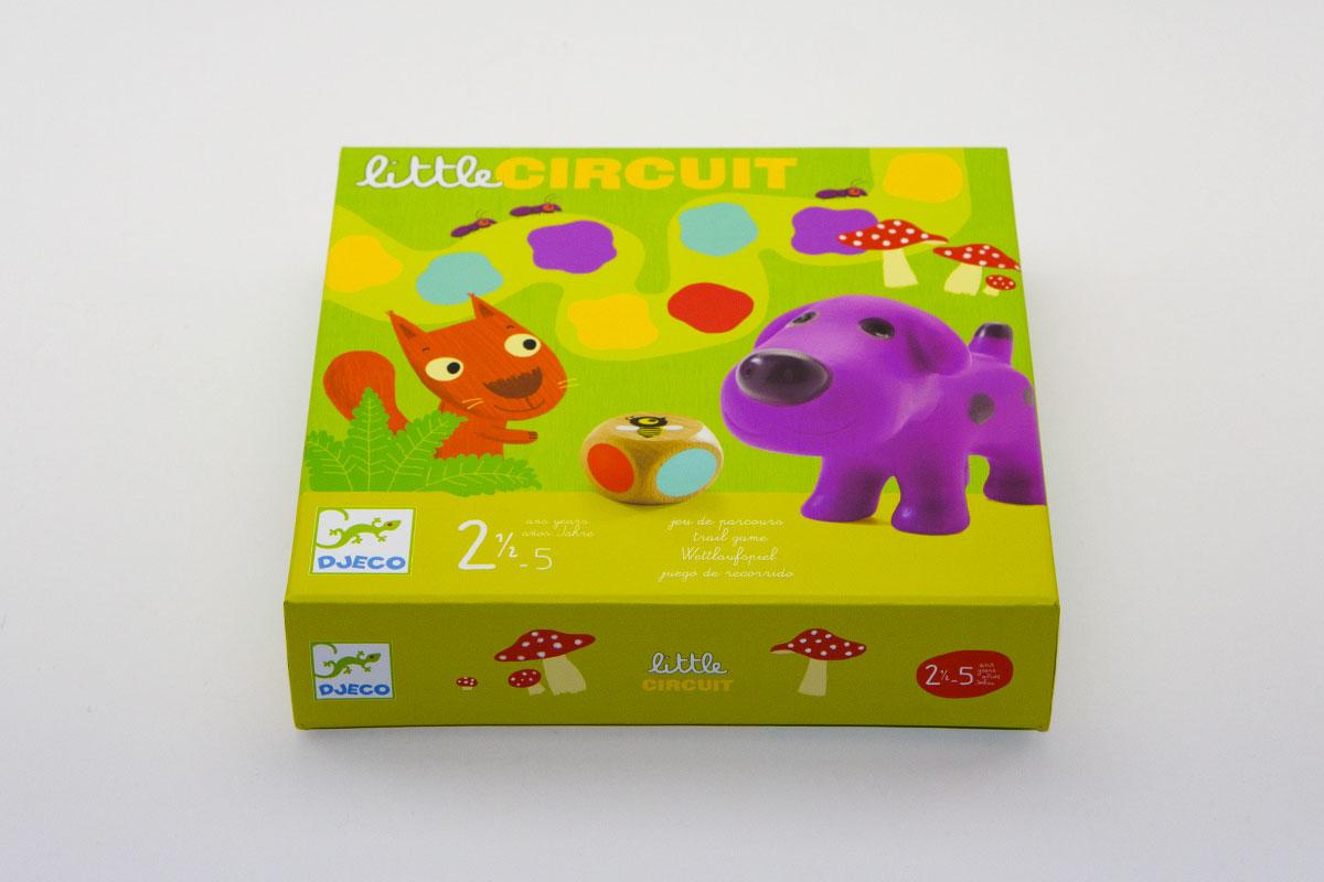 Little Circuit, un premier jeu de parcours simple et esthétique qui initie l'enfant aux règles de jeux tout en lui apprenant les couleurs