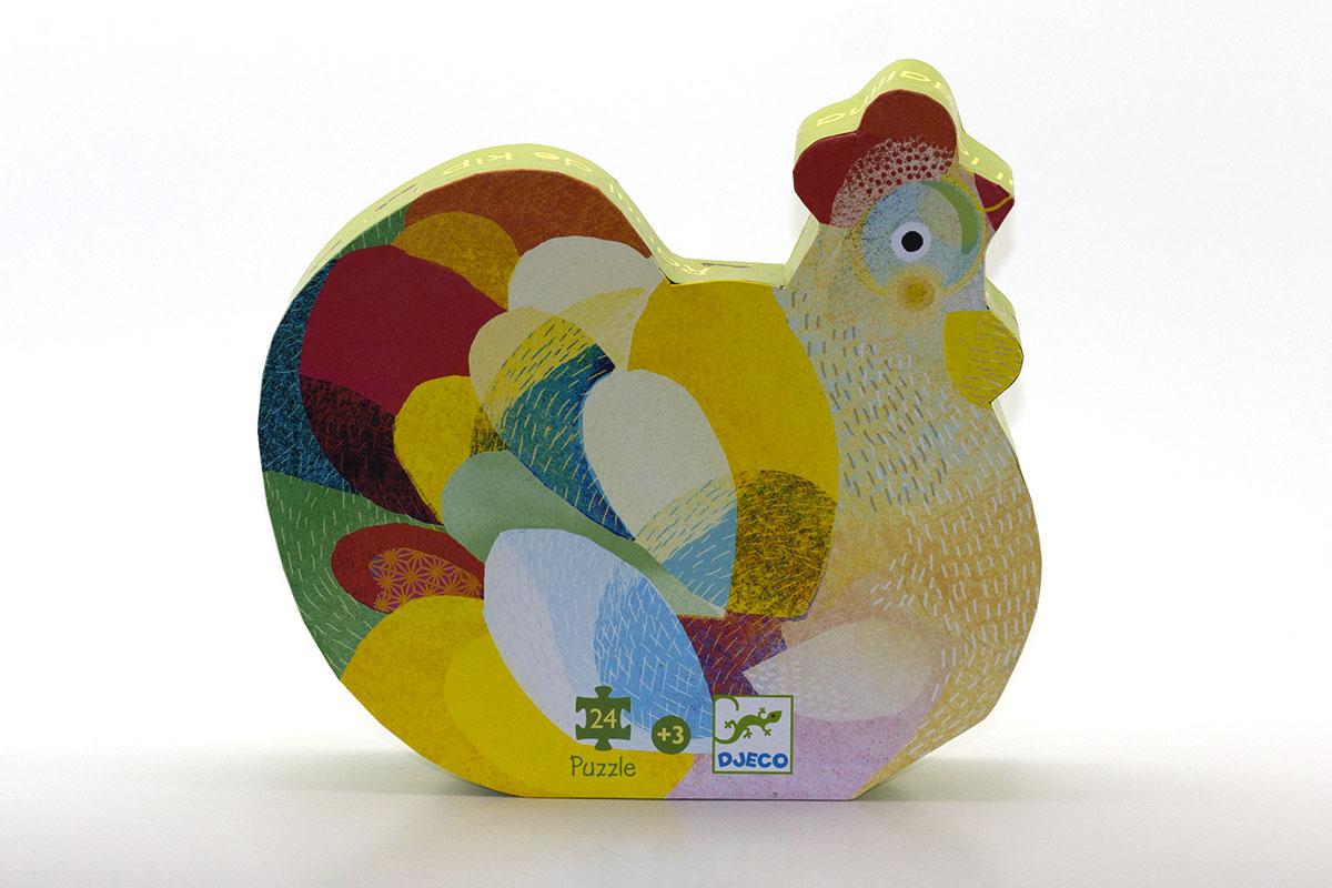 La poule aux couleurs arc-en-ciel