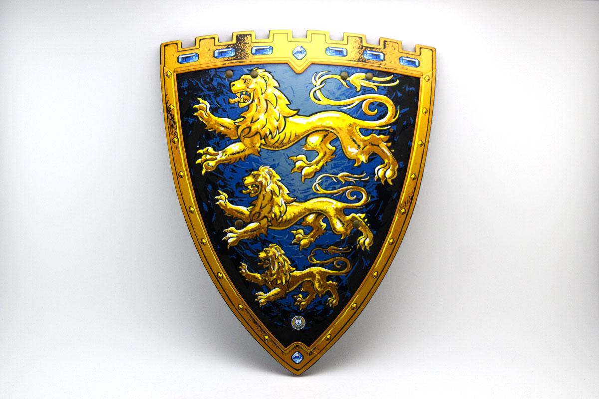 Bouclier de chevalier lion doré
