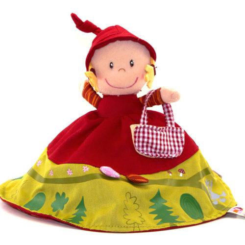 Un grand classique revisité pour étonner, captiver et s'amuser. Les 3 héros sont rassemblés en 1 seule création. En un tour de main chaperon rouge devient Mère grand, où encore le Grand Méchant Loup. Sur sa robe est tracé le chemin à travers le bois de notre petite aventurière.